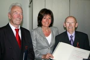 Verleihung Bundesverdienstkreuz Hans Lieser und Valentin Hennig