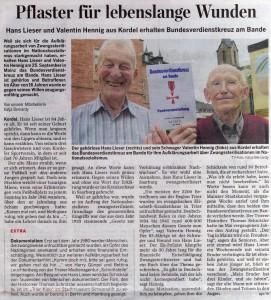 Bericht im Trierischen Volksfreund vom  19. September 2009